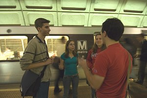 Students at the DC Metro