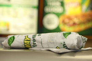 Subway Sandwich with new sticker