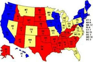 Map of 2012 swing states