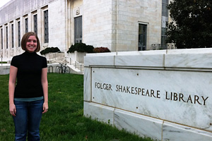 Taylor Roosevelt at the Folger Shakespeare Library.