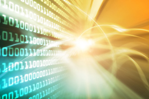 Futuristic-looking binary computer