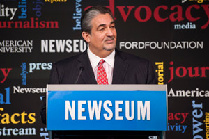 Ted Leonsis, former AOL top executive and owner of the Washington Capitals, speaks at the American University School of Communications' conference on Advocacy Journalism.
