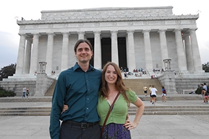 Konfirst enjoy their time in DC at the Lincoln Memorial. Photo courtesy of Kathrina Konfirst.