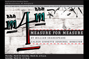 Measure for Measure poster.