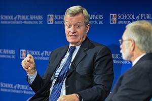 U.S Ambassador to China Max Sieben Baucus speaks at the Inaugural Scher Sustainability Forum.