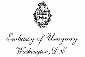 The logo of the Embassy of Uruguay