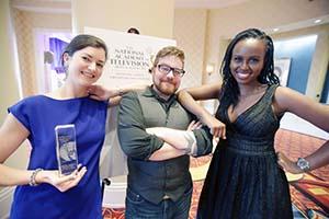 Three school of communication representatives at National Capital Emmys