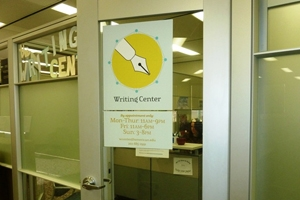 Writing Center doorway