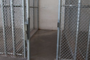 The indoor enclosures, which detainees call