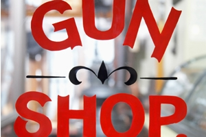 gun shop window