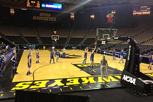 The AU women's basketball team during practice at Carver-Hawkeye Arena.