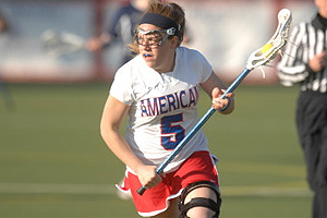 Senior Leslie Fischer is from Cleveland Heights, Ohio. (photo courtesy AU Athletics)