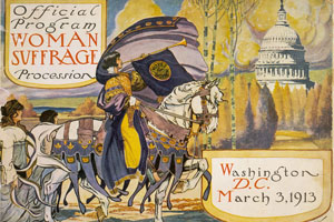 Official program of Woman Suffrage Procession in Washington, D.C., on March 3, 1913.