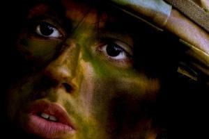Insurgent woman's face