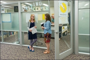Writing Center entrance in Bender Library