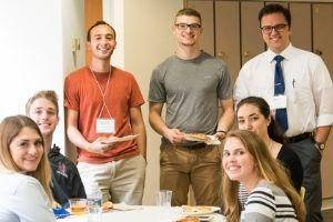 A group of Washington Semester interns at orientation