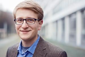 WSP Student Johannes Trischler in front of a building