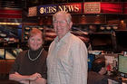 Photo: Dotty Lynch and James Thurber at CBS News in New York on election night.