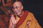 His Holiness the Dalai Lama, pictured here during his visit to AU in 1998, will return to campus in October.  Photo by: Hilary Schwab.