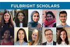 montage of Fulbright scholars