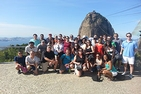 The second PMBA cohort visits Sugarloaf mountain.