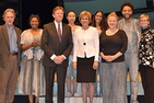 President Kerwin with Joan Wages (President and CEO of the National Women's History Museum), Our War director Anita Maynard-Losh, and the Our War cast. Photo courtesy Arena Stage.