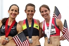 Kerri Gallagher (pictured far right). Photo Credit: USA Track & Field.