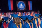 A photo of American University's spring commencement.