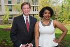 American University President Neil Kerwin and President's Award winner Tatiana Laing