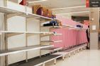 Empty store shelves during pandemic