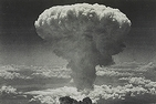 A photo of the mushroom cloud resulting from the atomic bombing of Nagasaki, Japan, on August 9, 1945. Photo courtesy of Library of Congress.