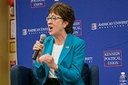 At a recent AU event, Sen. Susan Collins, R-Maine made a strong case for civility and bipartisanship. Photo credit: Anna Moneymaker, AU Photo Collective.