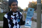 Marjun Parcasio's involvment with the AU College Democrats club enabled him the opportunity to go canvassing in Pennsylvania, Virginia, and Ohio during the campaign of Barack Obama