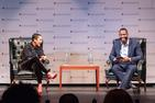 Sociologist Eve L. Ewings talks to best-selling author Ta-Nehisi Coates at American University's Greenberg Theatre.