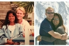 Christine Moo-Young, Kogod/BSBA '87, and Michael Russell, Kogod/BSBA '86 in 1988 and 2013.