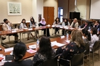 A roundtable attended by women entrepreneurs and business leaders in Karachi, Pakistan.