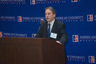 Photo of CLALS director Eric Hershberg speaking at a podium