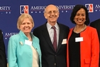 SPA Dean Barbara Romzek, Supreme Court Justice Stephen Breyer and WCL Senior Associate Dean Lia Epperson.