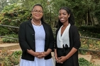 Yamillet Payano and Britni Wilcher discuss American Economic Association summer program.