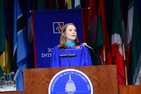 IR Online student Emily Ham, SIS/MA '15, spoke at SIS Commencement 2015.