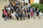 an overhead shot of all the faculty from the School of International Service