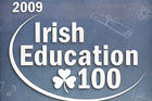 The Village Voice's Irish Education 100 logo.