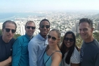 John Ampiah-Addison, classmates and professors enjoying their time in Israel.