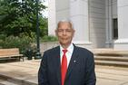 Julian Bond on AU's campus