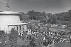 Scores of people attend the Kay Spiritual Life Center's 1965 dedication.