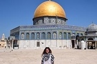Kim Maldonado, SIS/MA '18, standing in front of the Dome of the Rock in Israel.