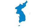 The Korean Unification Flag, depicting the Korean peninsula.