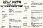 1963 March on Washington program