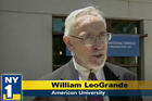 Bill LeoGrande, Dean of the School of Public Affairs talks to NY1 Television.