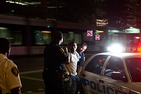 Houston Police arrests a young man in downtown Houston.